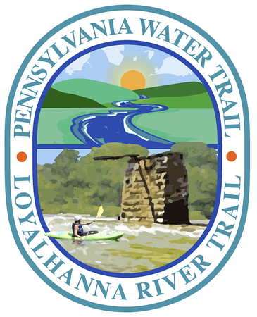 Second Draft, Loyalhanna Water Trail Map LogoWorking out compositional elements and concept with client.I favor overlapping elements in logo design.